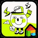 NeonYellow Drawing Dodol Theme icon