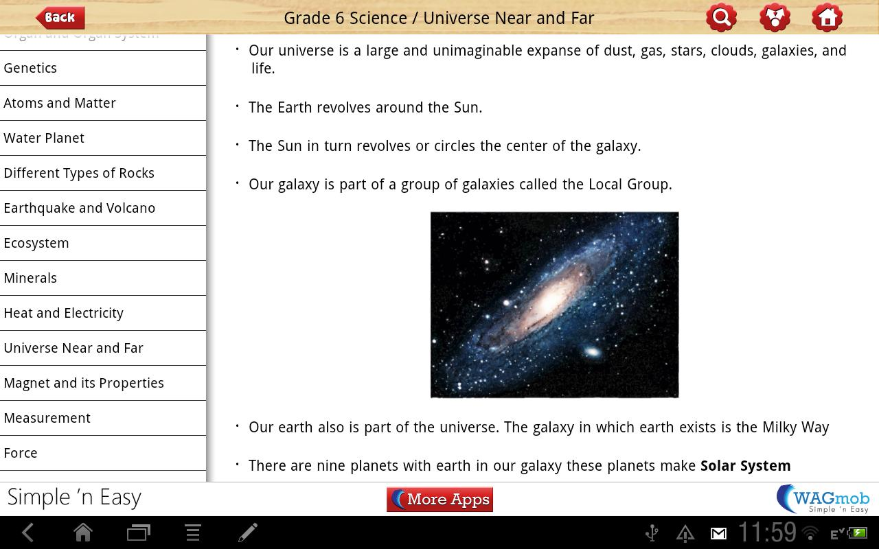 Grade 6 Science by WAGmob - screenshot