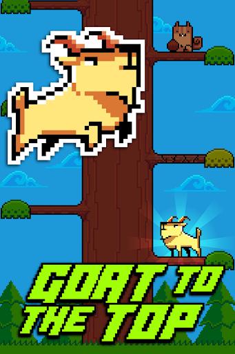 Goat Up Climb Timber Trees