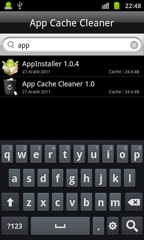 App Cache Cleaner - screenshot