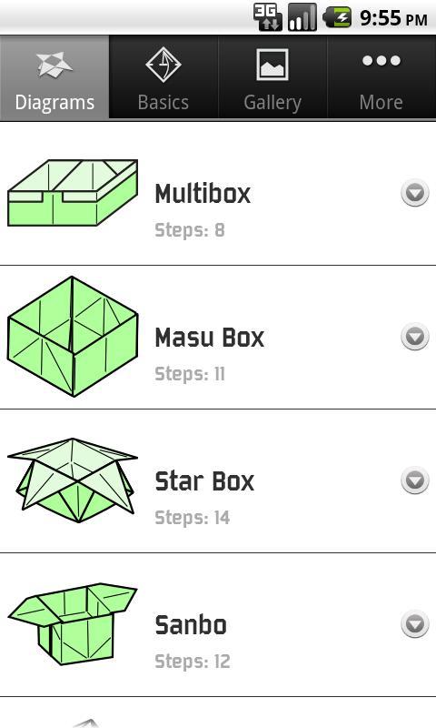 Origami Boxes- screenshot