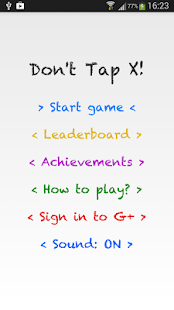 Don't Tap X! - screenshot thumbnail