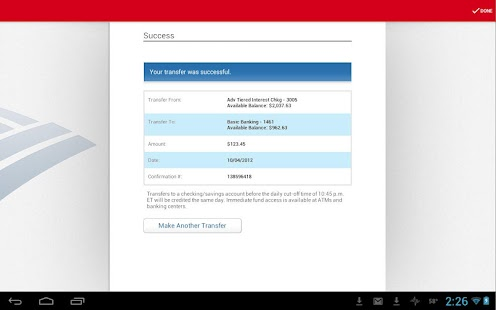 Bank of America for Tablet - screenshot thumbnail