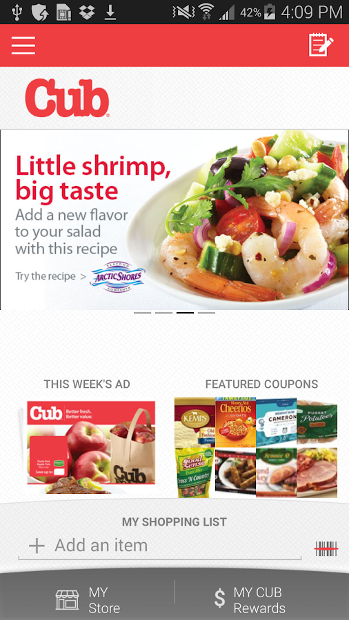 Cub Foods- screenshot