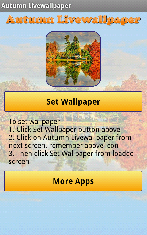 Autumn Live Wallpaper - screenshot