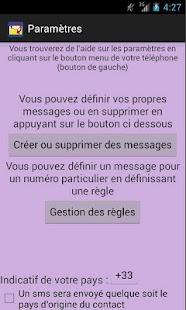 Répondeur SMS - screenshot thumbnail