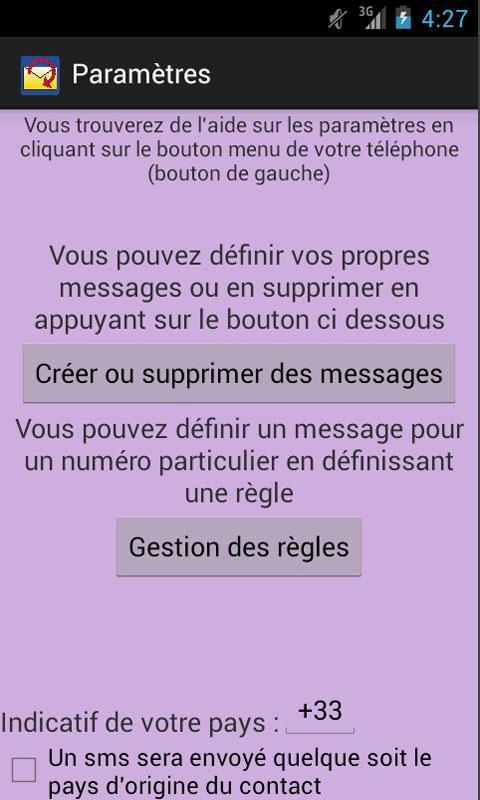 Répondeur SMS - screenshot