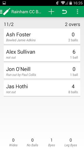 Seam Up A Cricket Scoring App