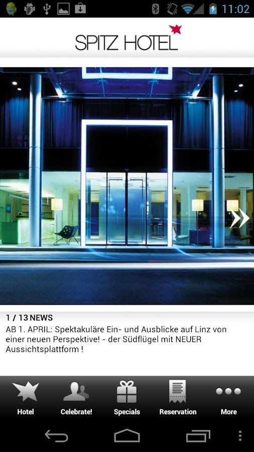 SPITZ hotel LINZ- screenshot