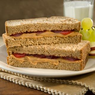 Classic Pb&j Sandwich.