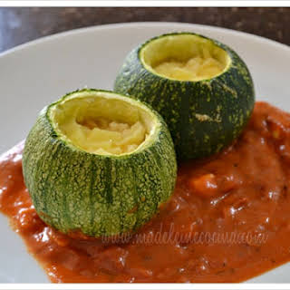 Stuffed Three Cheese Zucchini.