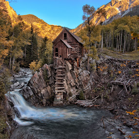 Crystal Mill by Hans Watson - Buildings & Architecture Decaying & Abandoned ( water, mill, cowboy, falls, fall, colorado, old west,  )