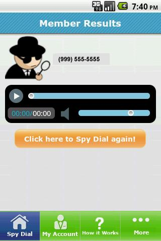 Spy Dialer - screenshot