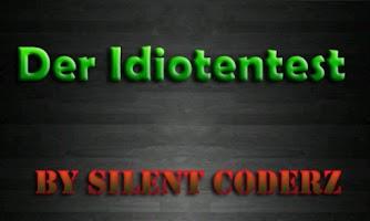 Screenshot of Idiotentest - Deutsch