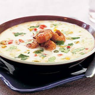 Thai Coconut Shrimp Soup.