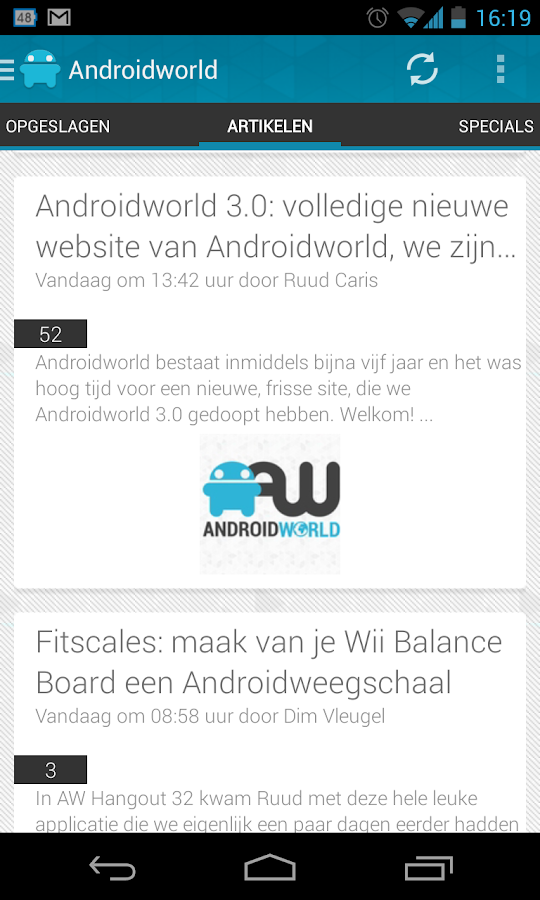 Androidworld: Android nieuws - screenshot