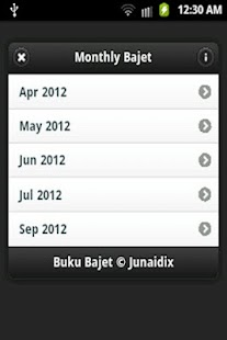 Buku Bajet- screenshot thumbnail