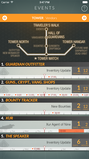 Destiny Public Events Tracker 3.3 screenshots 10
