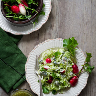 Chopped Salad with Blue Cheese Dressing.