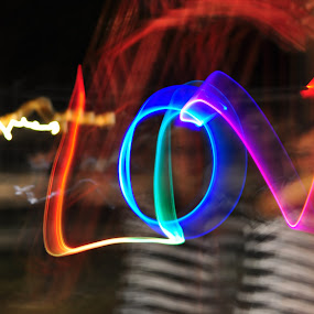 by Delphine Jourdren - Abstract Light Painting
