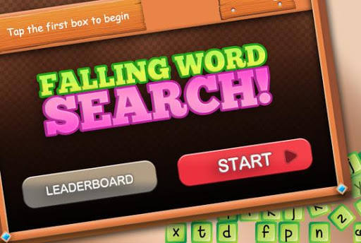 Falling Bookworm Word Search