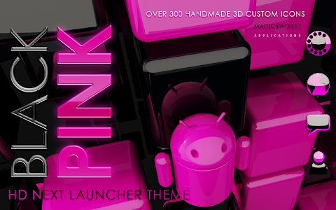 Next Launcher Theme Pink Magic v4.40 [440]