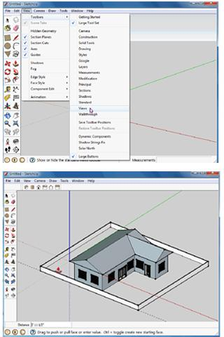 Learning SketchUp- screenshot