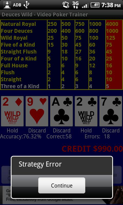 Video Poker - Deuces Wild- screenshot