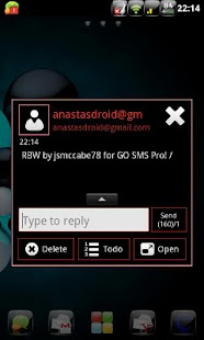 RBW GO SMS Pro Theme (free) - screenshot thumbnail
