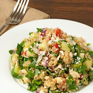 Greek Spinach and Quinoa Salad.