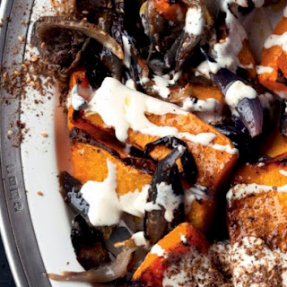 Roasted Butternut Squash and Red Onion with Tahini and Za'Atar From 'Jerusalem' Recipe