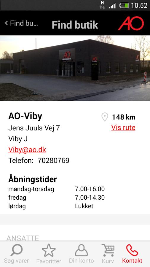 AO.dk Mobil- screenshot