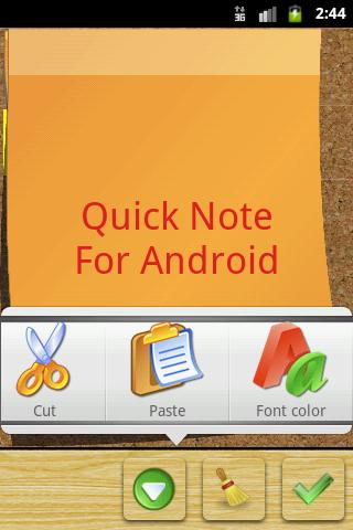 Quick Note sticky note widget - screenshot