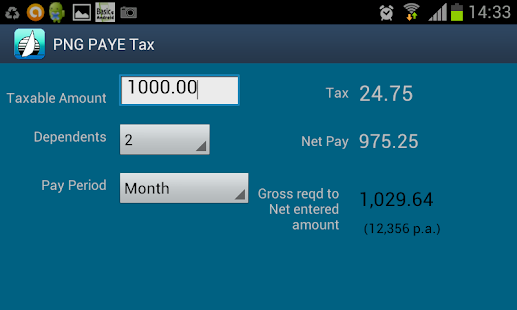 PNG PAYE Tax- screenshot thumbnail