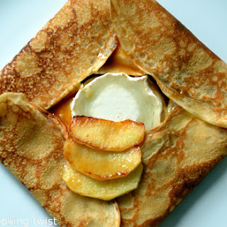 French Crêpes with Goat Cheese and Salted Caramel Apples