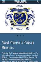 Screenshot of Provoke To Purpose Ministries