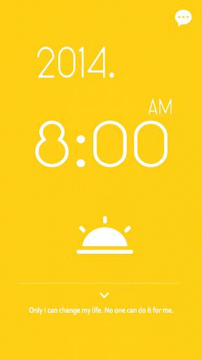 【免費工具App】시계 위젯 - 심플한 시계/노란색 시계/예쁜 시계-APP點子