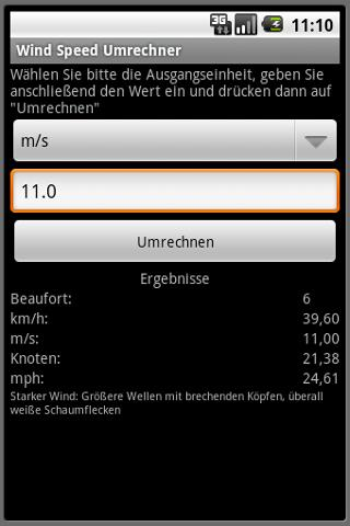 WindSpeed- screenshot