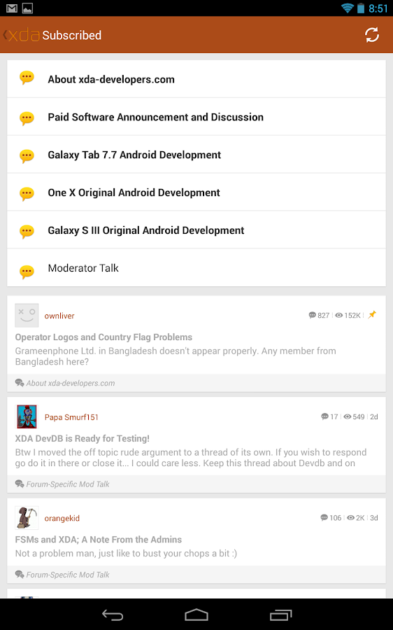 XDA Legacy- screenshot