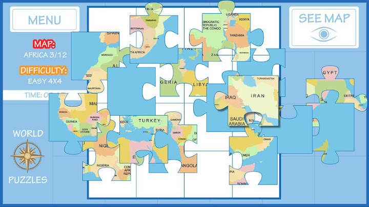 World map puzzle on google play reviews stats world map puzzle android app screenshot gumiabroncs Image collections