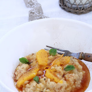 Sweet Orange Caramel Risotto with Chai Spices.