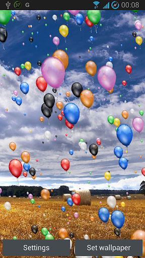 A Pretty Live Wallpaper With Balloons Flowing