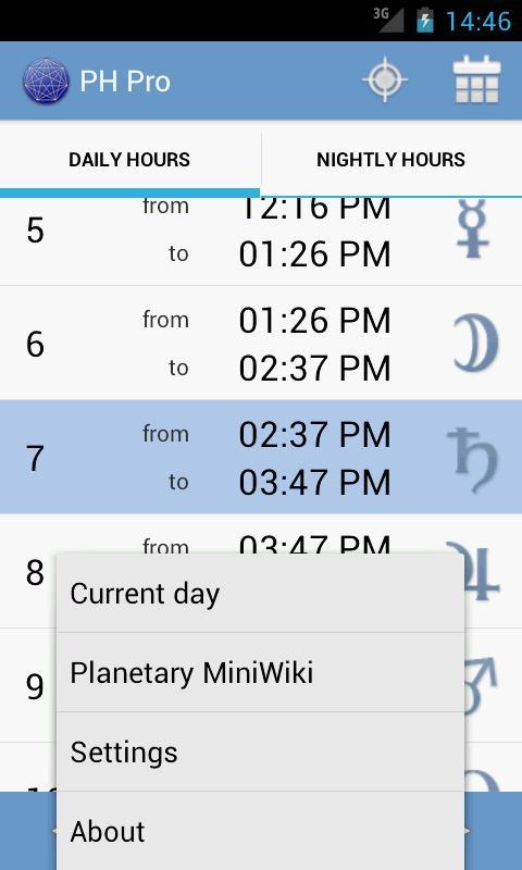 Planetary Hours Pro- screenshot