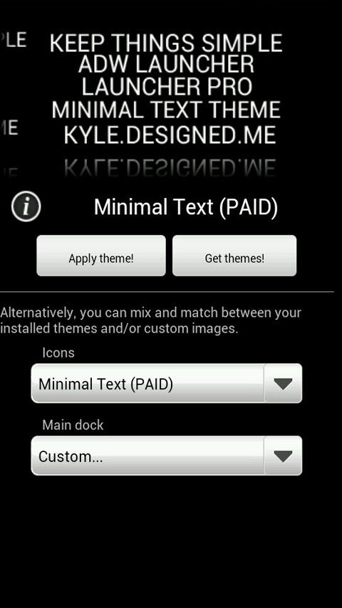 Minimal Text THEME - PAID - screenshot
