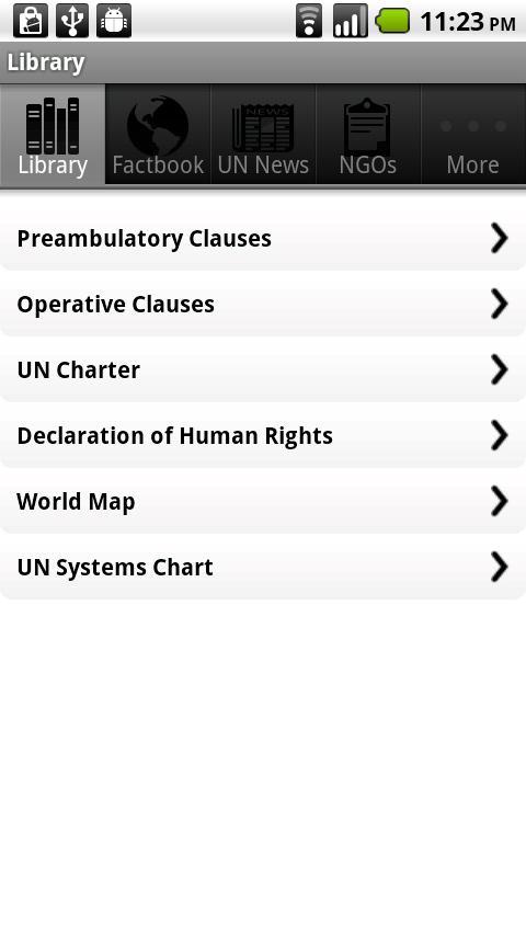 Model UN- screenshot