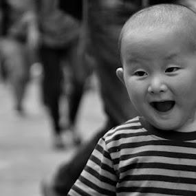 Wonder by Chobi Wala - Babies & Children Child Portraits ( #child, #babies.#children, #cute, #wonder, , Emotion, portrait, human, people, black and white, b&w, child )