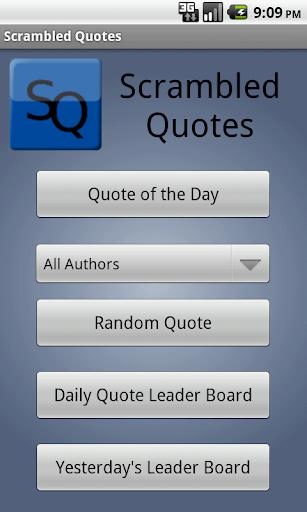 Scrambled Quotes FREE