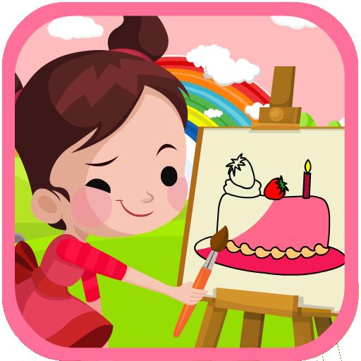 Happy Birthday Cake Coloring