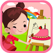 Happy Birthday Cake Coloring