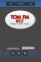 Screenshot of 97.7 Tom-FM